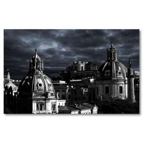 Αφίσα (Ρώμη, ηλιοβασίλεμα, Ιταλία, μαύρο, λευκό, άσπρο)